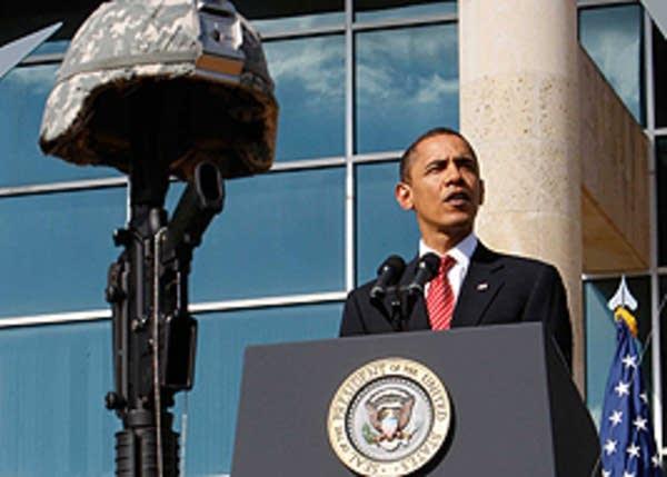 Barack Obama speaks at Fort Hood