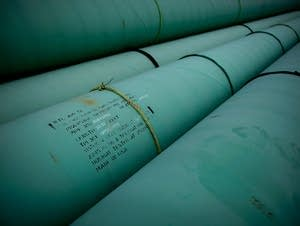 Stacked sections of the Keystone Pipeline