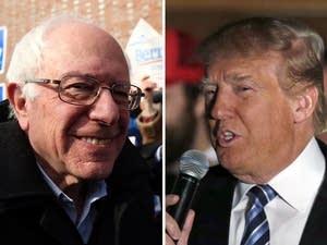 Bernie Sanders, Donald Trump