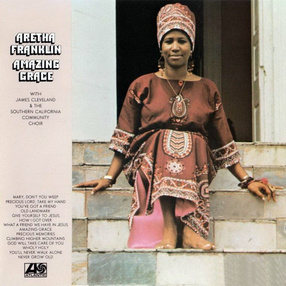Cover art for Aretha Franklin's 1972 album 'Amazing Grace.'