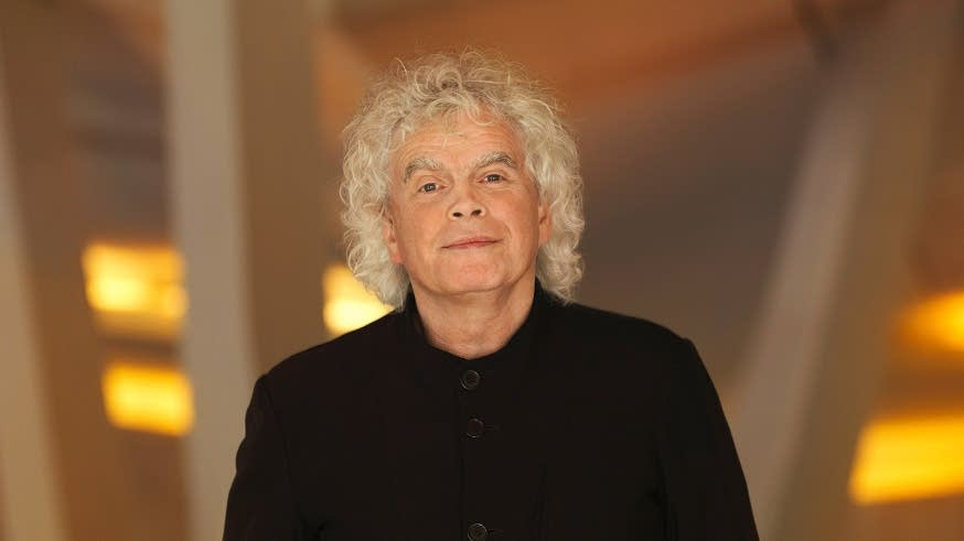 Simon Rattle of the Berliner Philharmoniker
