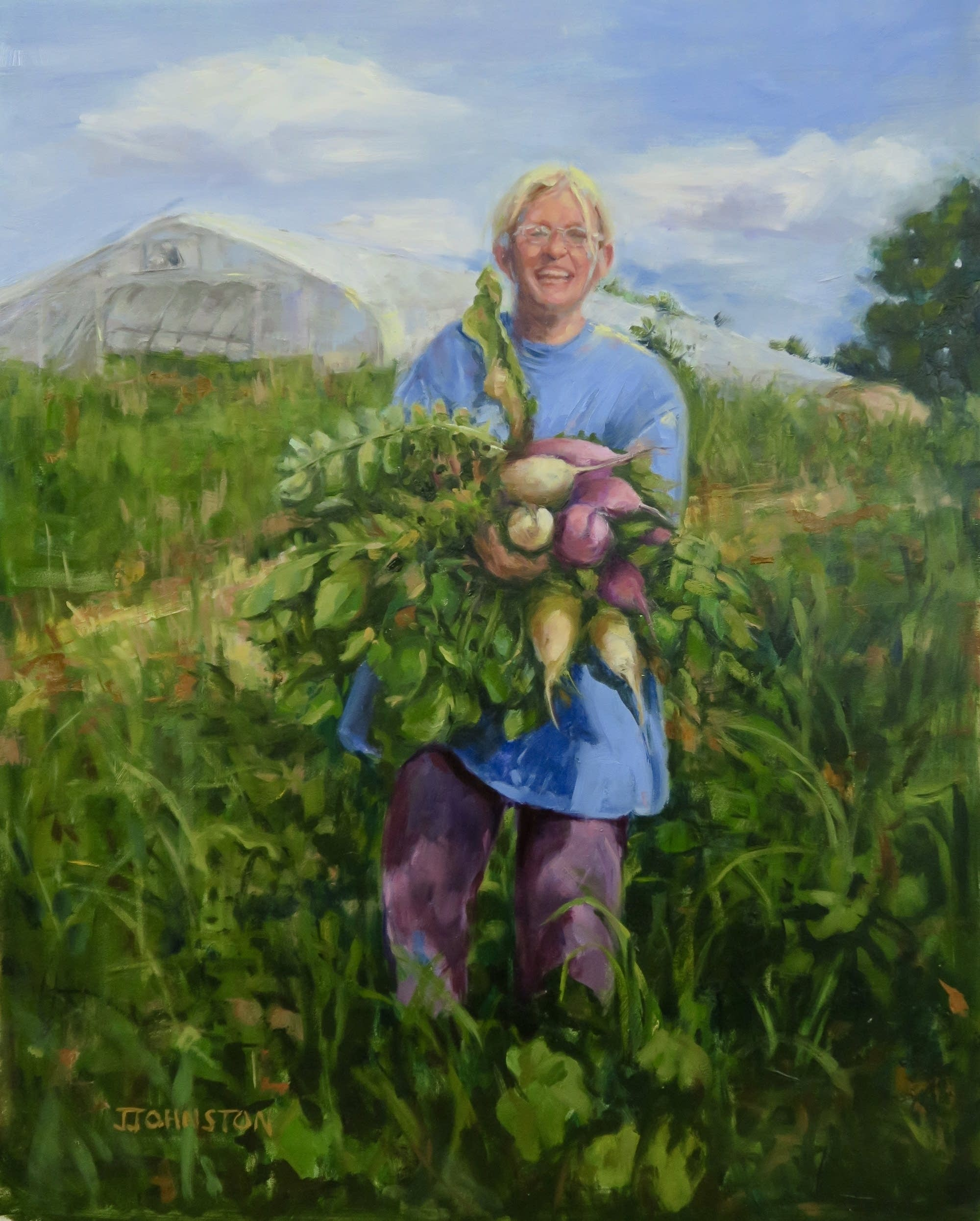 Painter Julie Johnston depicts the strength of female farmers.
