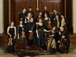 Members of the baroque orchestra, Apollo's Fire.