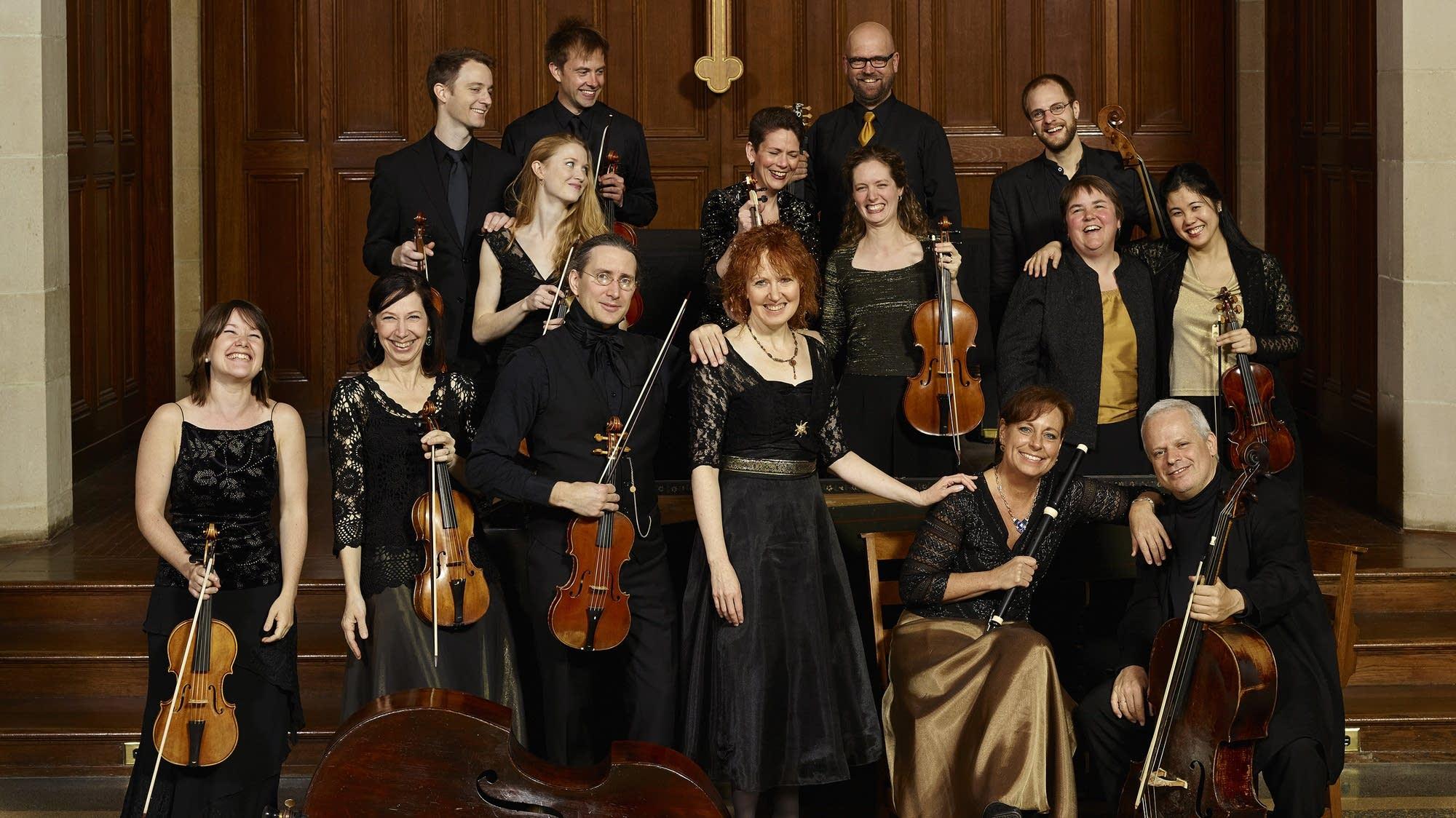 Members of the baroque orchestra, Apollo's Fire.