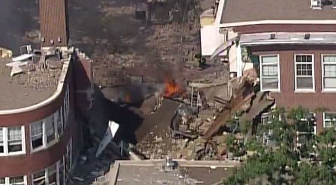 Rescue efforts underway after building explosion, collapse at Minnesota school
