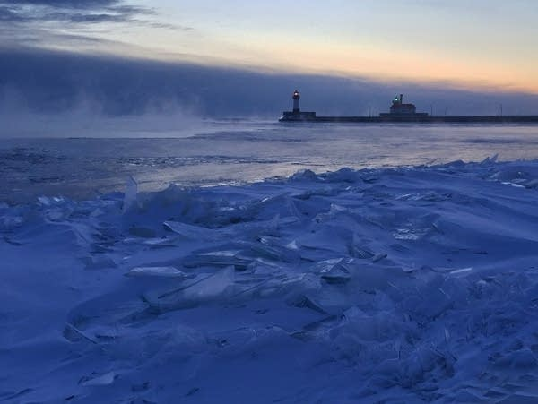Dawn over Lake Superior this morning as seen from Duluth.