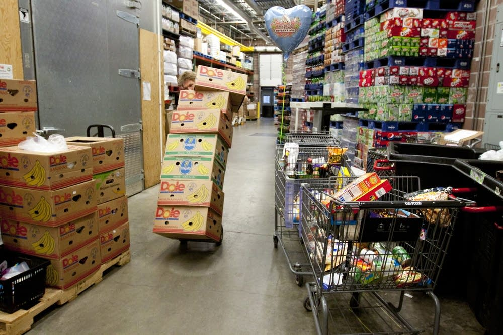 Redistributing groceries