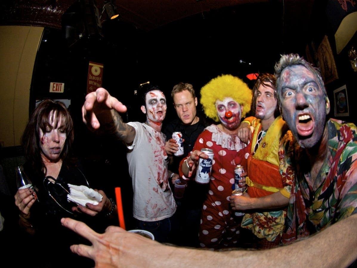 Revelers at the 2010 Zombie Pub Crawl.