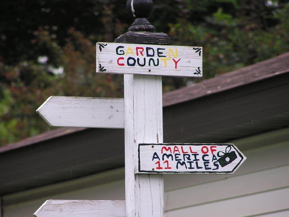 Garden County sign