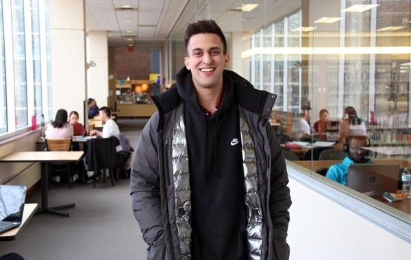 Steven Ahmad, 26, is a junior at Concordia University St. Paul.