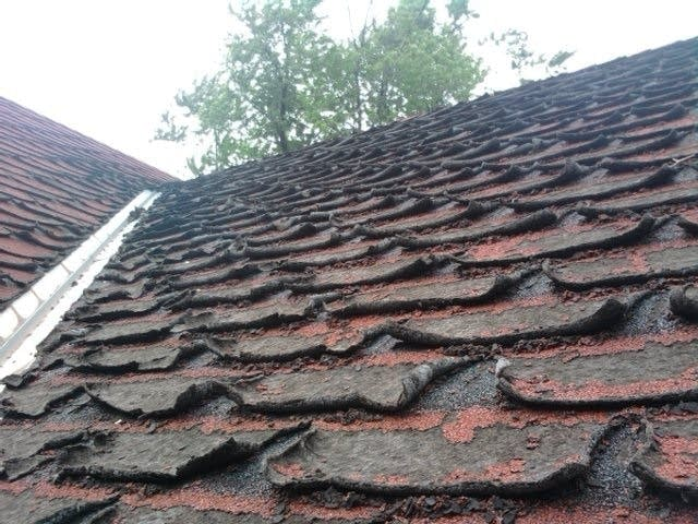 Deteriorated roof
