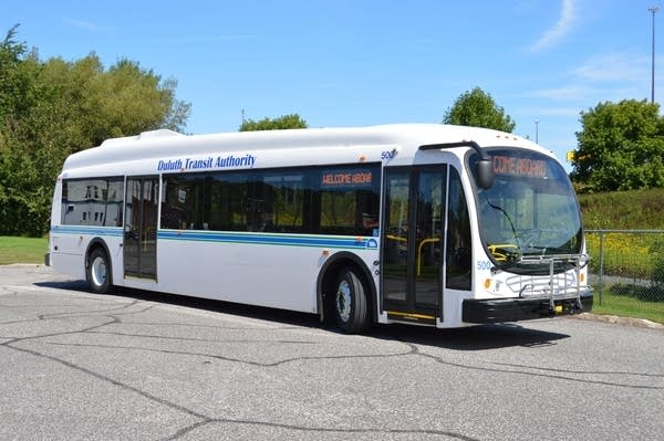 One of the new electric buses in Duluth.