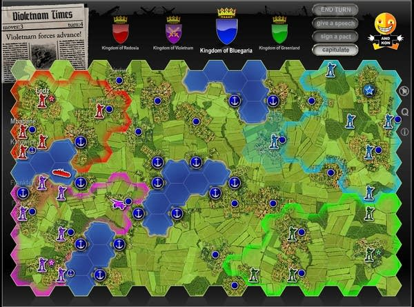 "Screencap of very basic tile-based online game ""Hex Empire"""