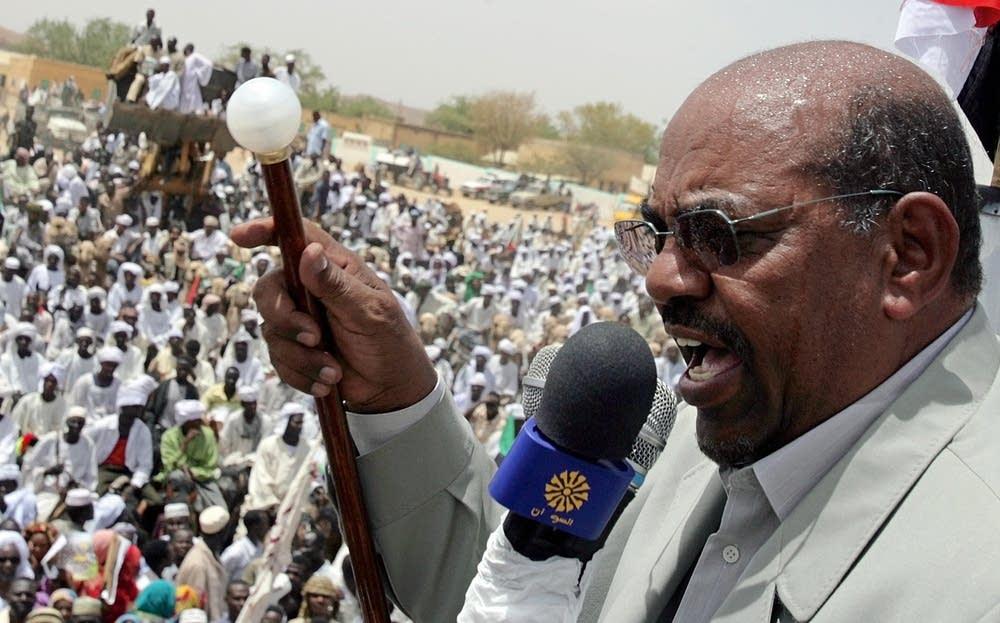 Sudanese President Omar al-Beshir address