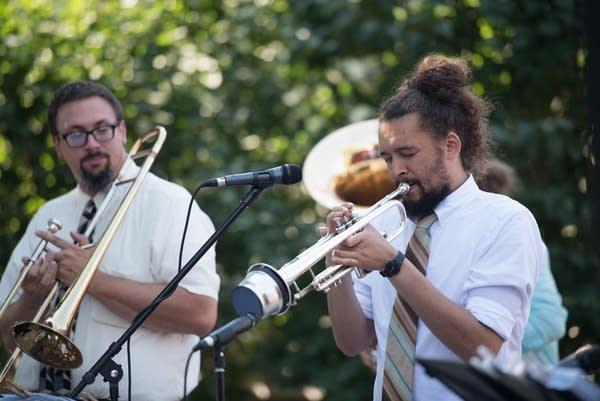 Band leader/singer/trumpeter Cameron Kinghorn