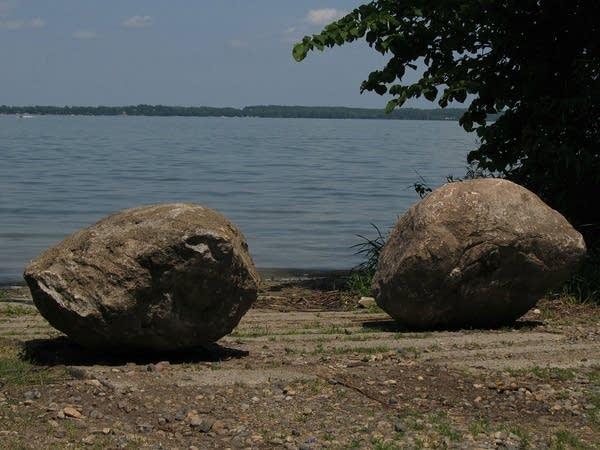 Lake access blocked