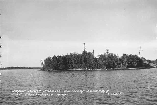 Eagle Nest Island, Lake Kabetogama, circa 1950.