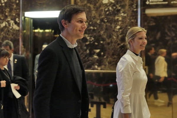 Jared Kushner and his wife Ivanka Trump