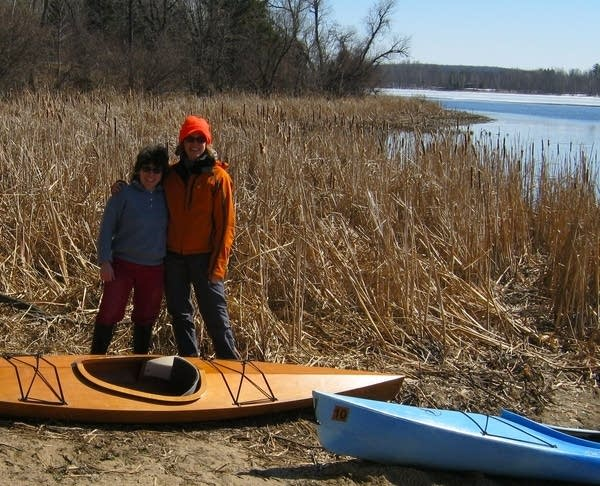 """Alison Young with """"The Kayak Lady"""""""