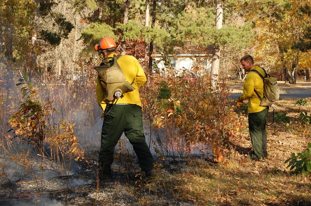 Red Lake fire crew