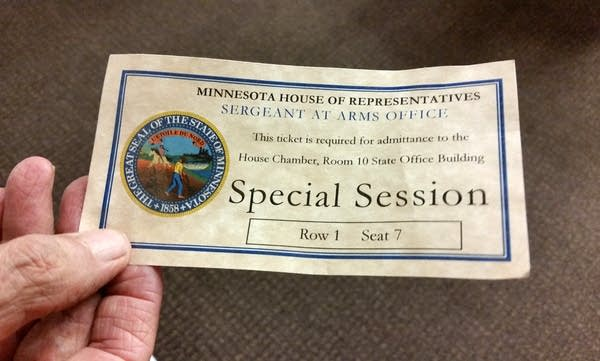 A ticket for the special session