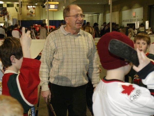 Former University of Minnesota hockey coach Doug Woog