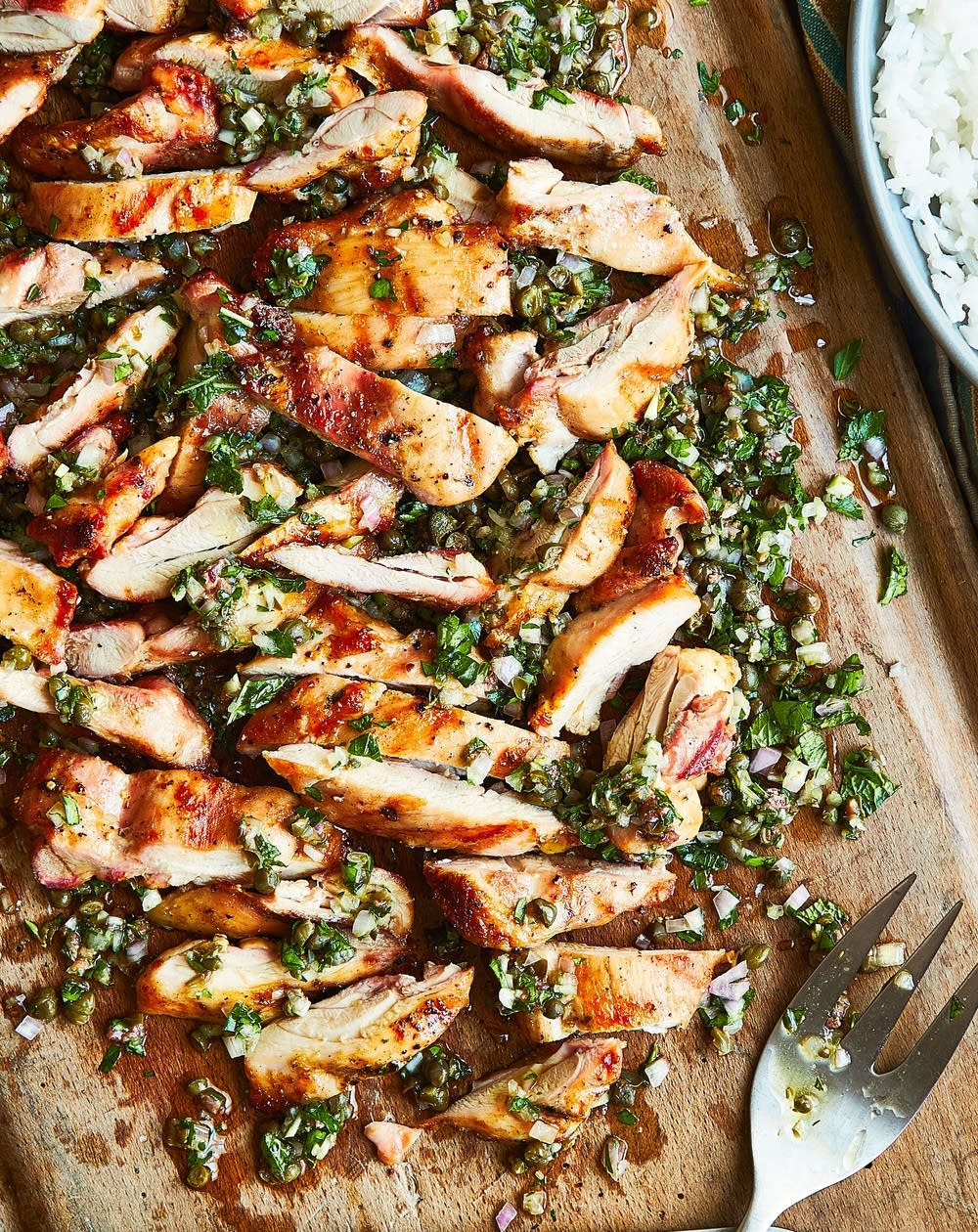 Chicken Thighs with Herb Salsa