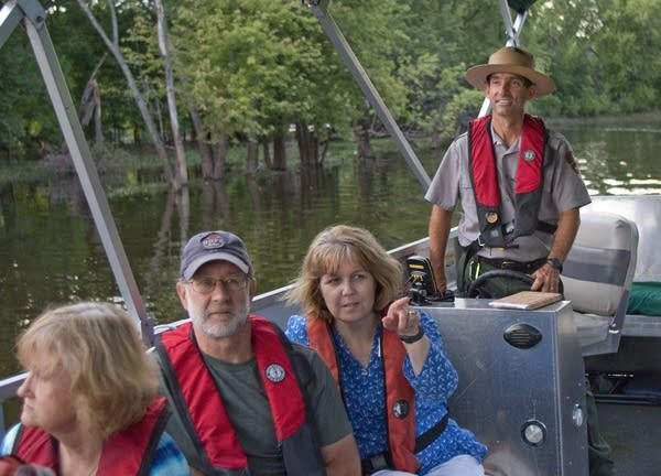 National Park Ranger Mike Gavre leads a tour.