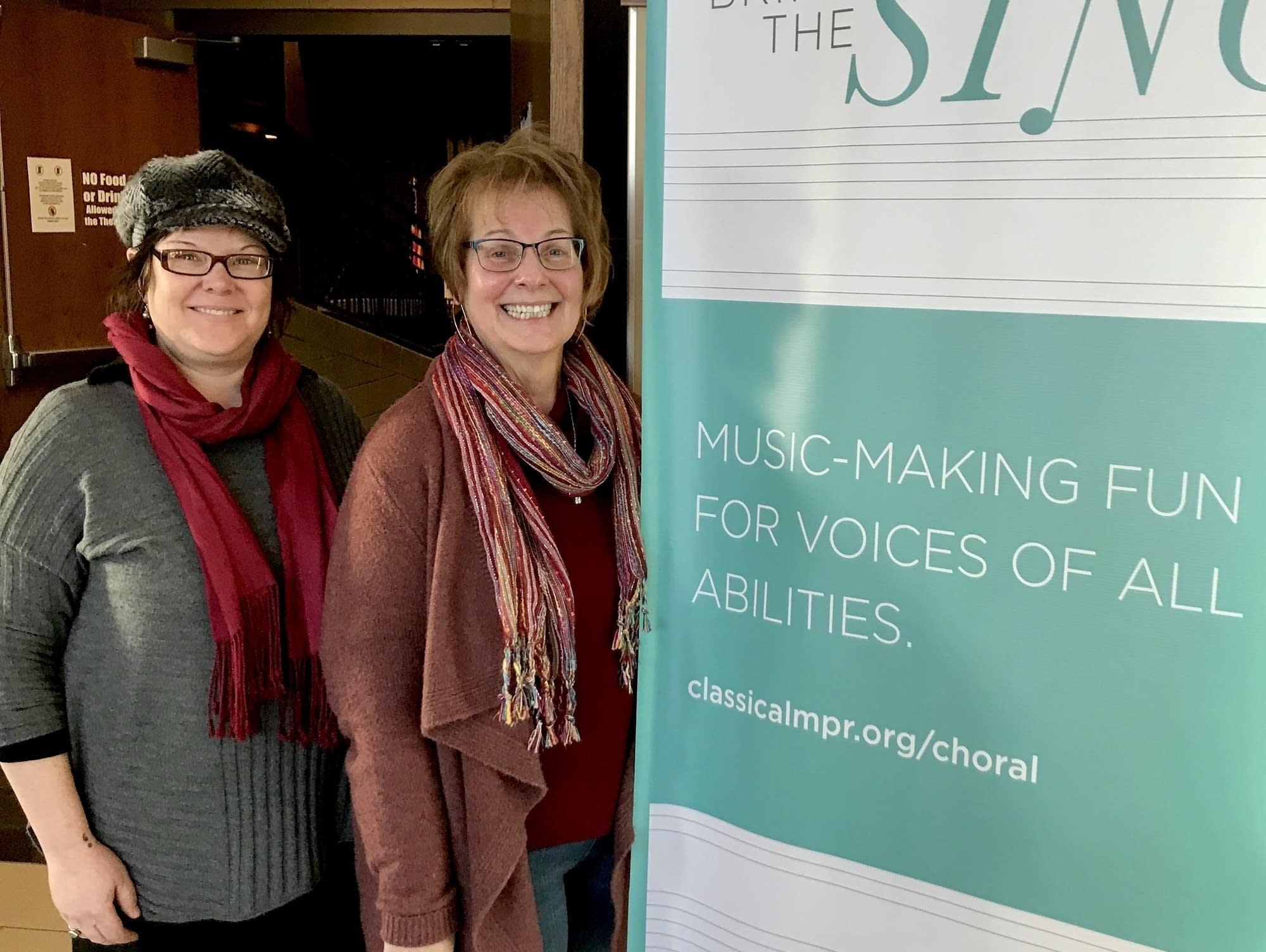 Beth Thesing and Susan Kimball at Bring the Sing