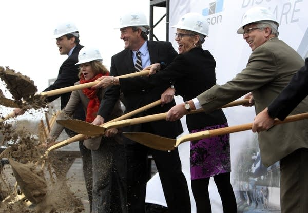 Officials break ground for Discovery Square in Rochester.