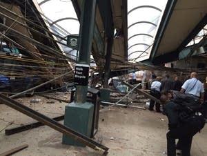 Train hits New Jersey station