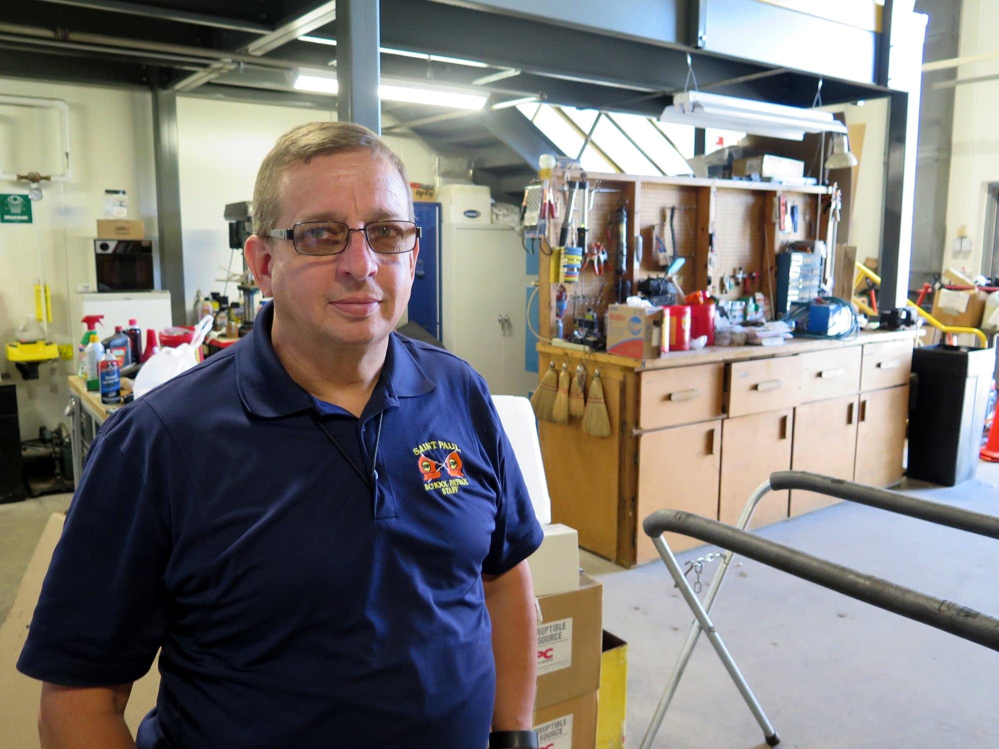 Dan Stroeing oversees maintenance of the transportation fleet