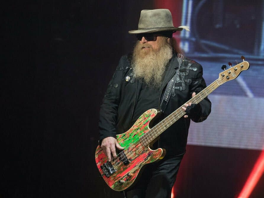 Dusty Hill of ZZ Top In Concert - Austin, Texas