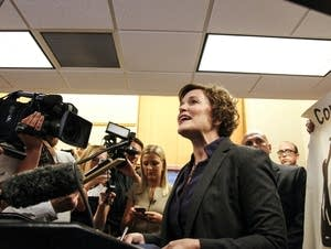 Mayor Hodges could not speak over the protesters and left the room.