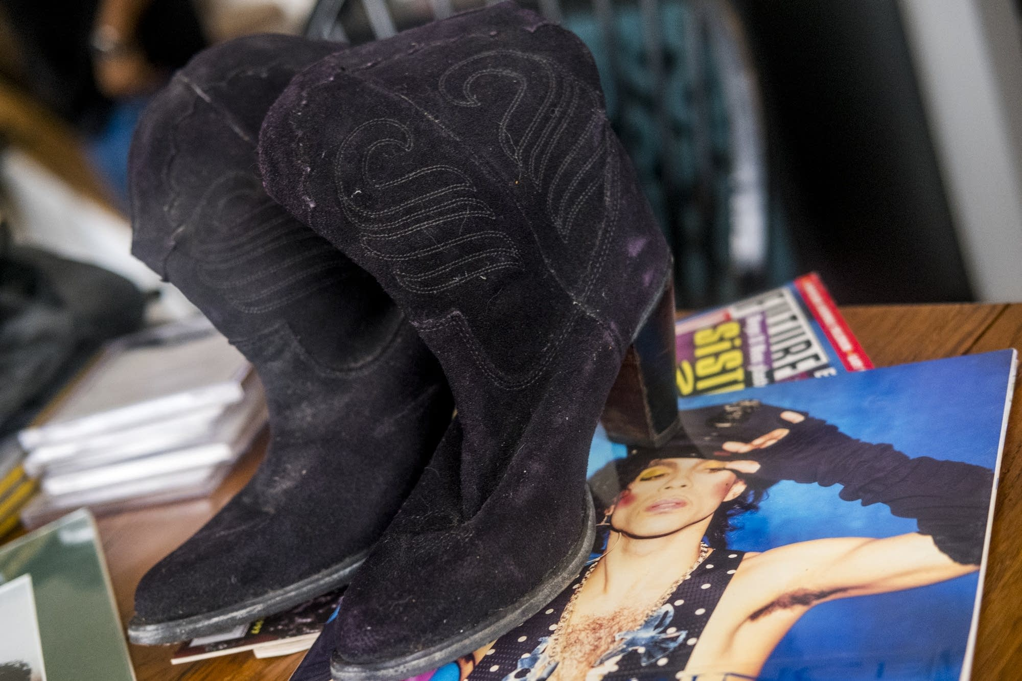A pair of boots worn by Prince.