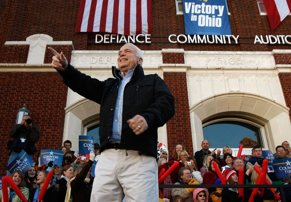 McCain at a rally in Defiance, Ohio