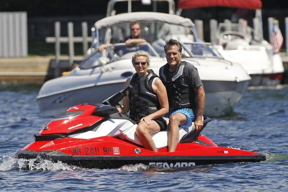 Mitt Romney, Ann Romney jet ski