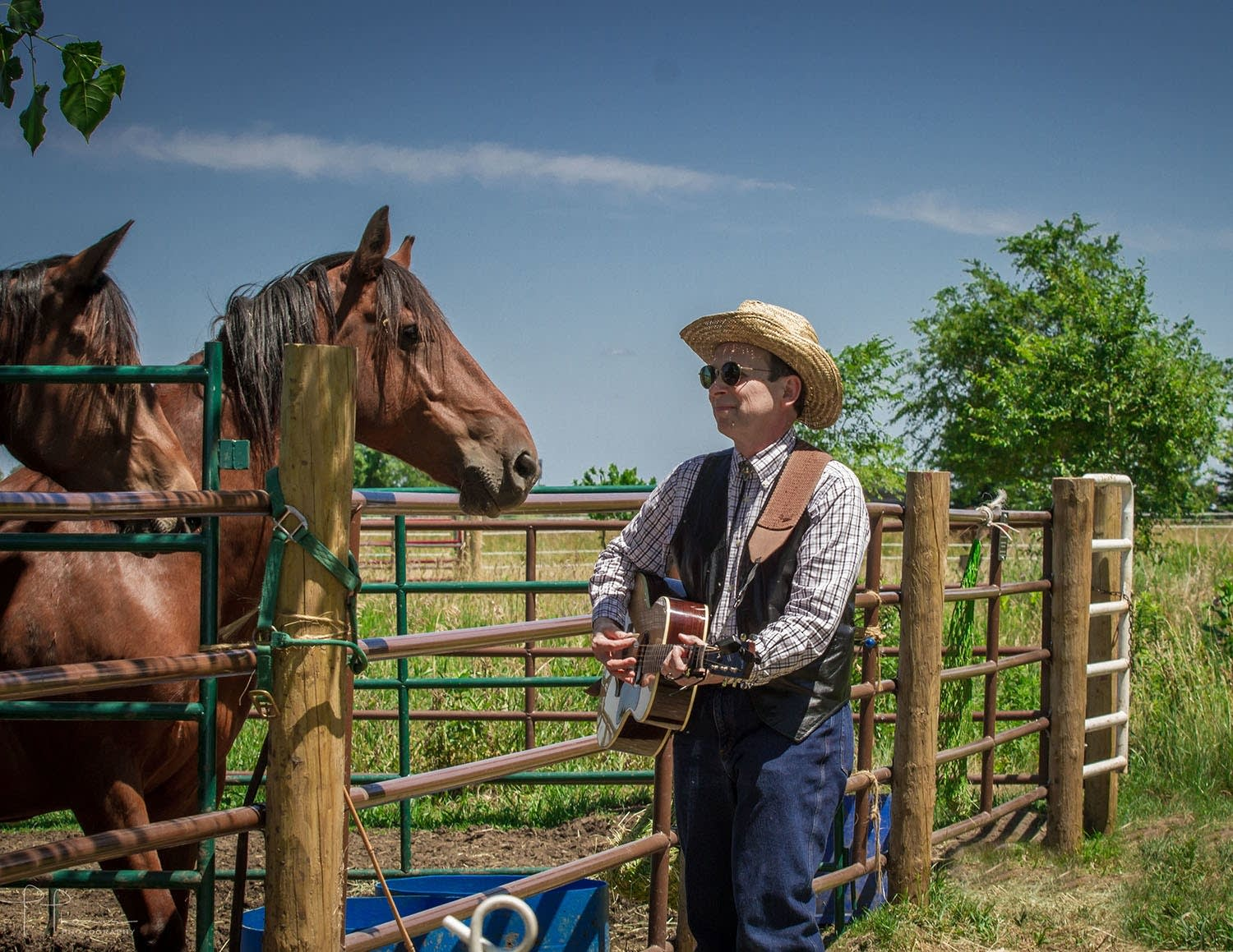 AJ Scheiber performs for the horses