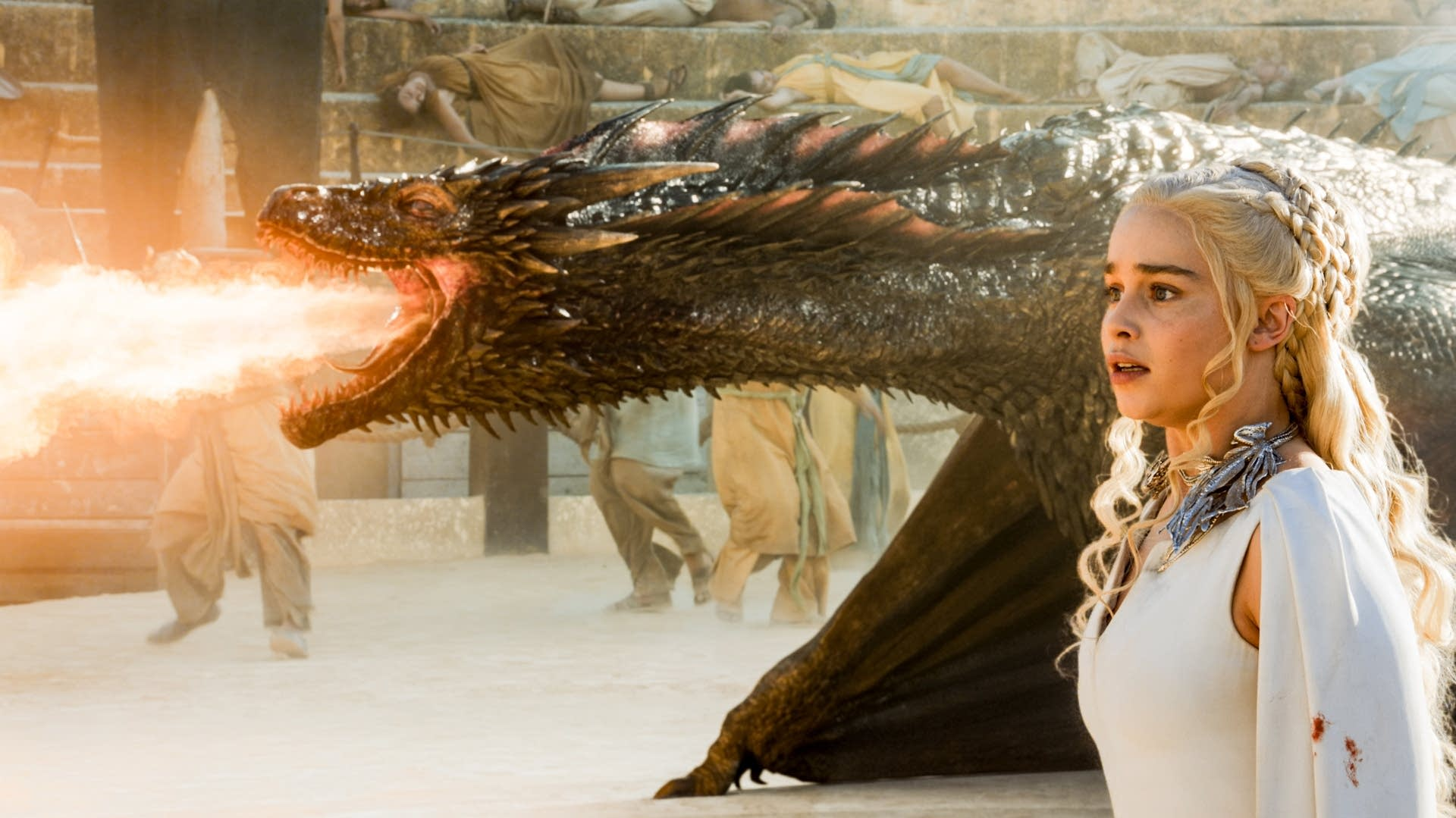 Emilia Clarke stars as Daenerys Targaryen