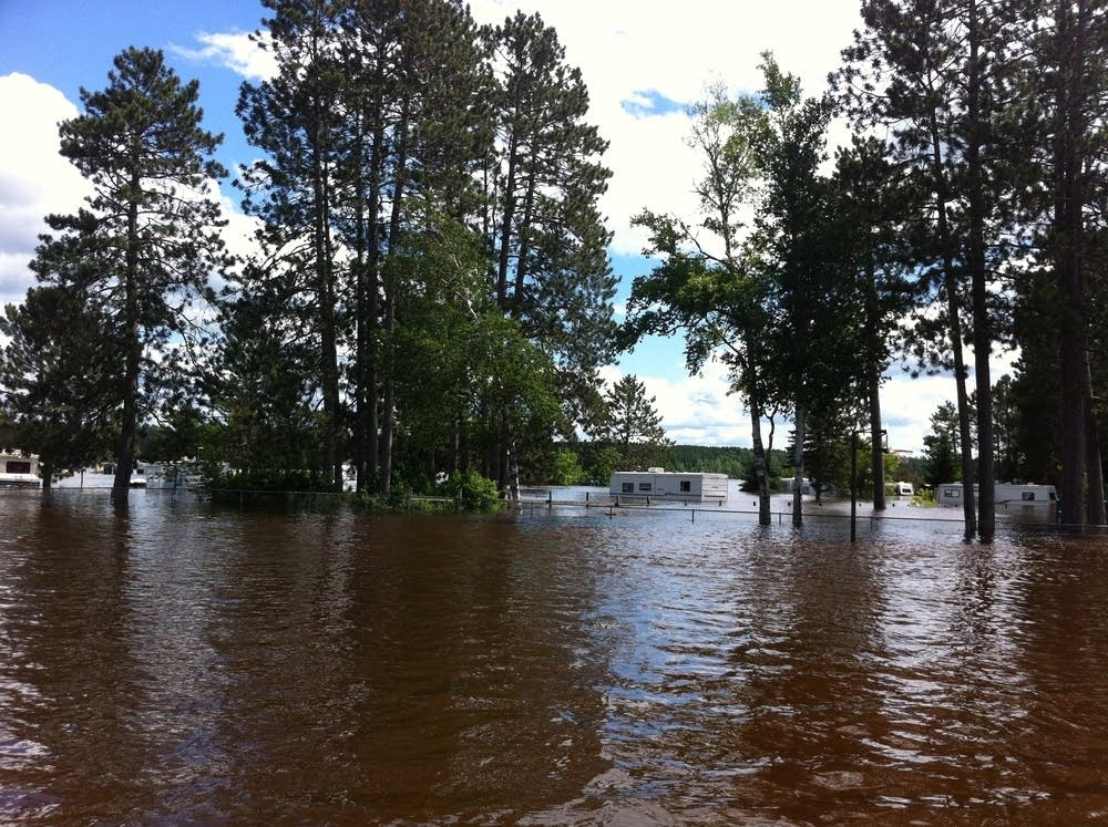 Moose Lake flooding