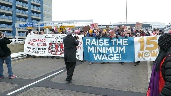 Demonstrators at MSP airport