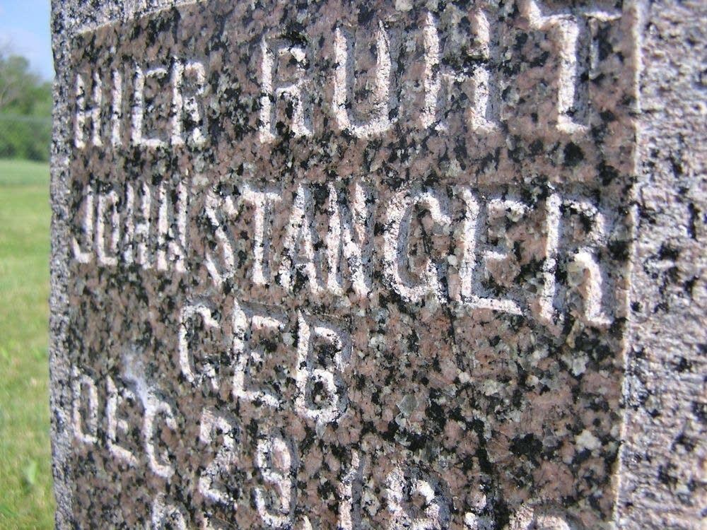 Stanger gravestone