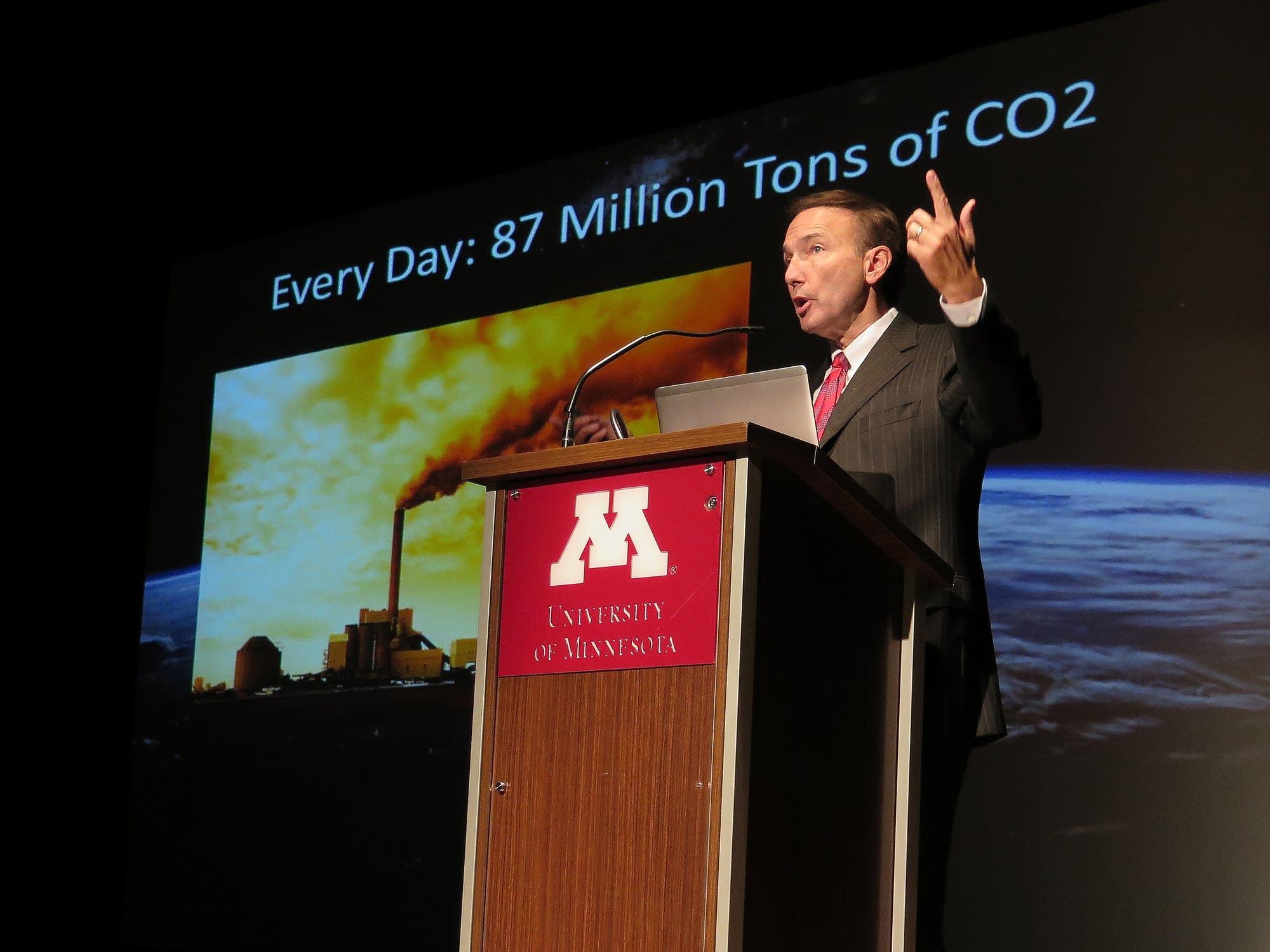 Paul Douglas speaks about climate change.