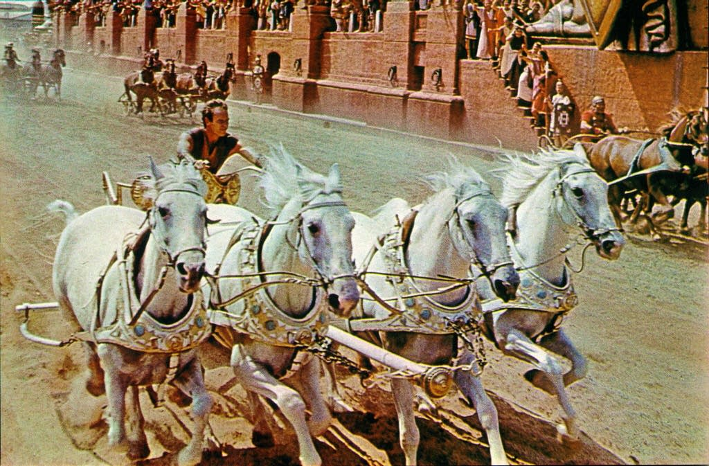 Chariot race in 'Ben-Hur'