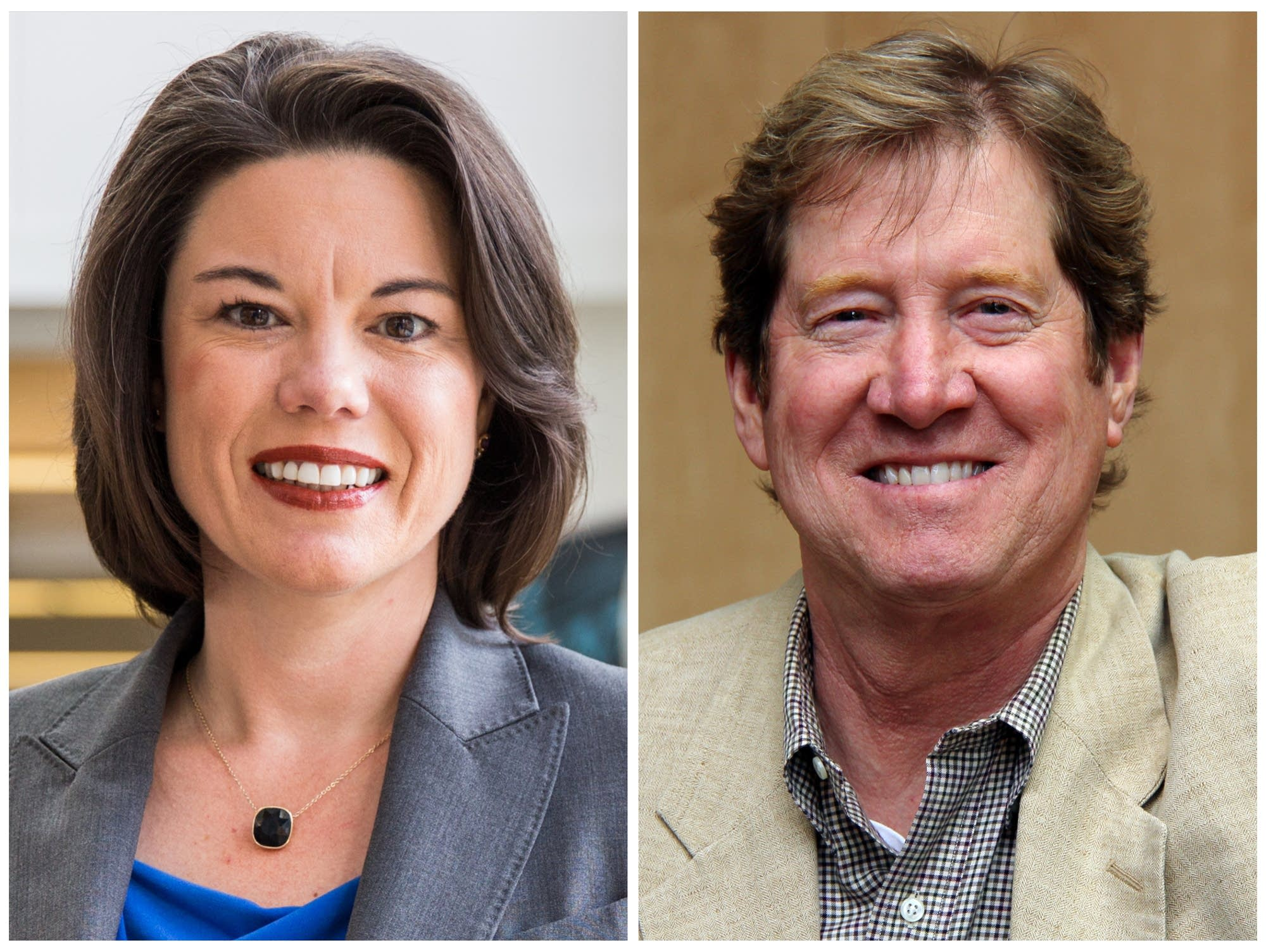 Democrat candidate Angie Craig and Republican incumbent Jason Lewis.