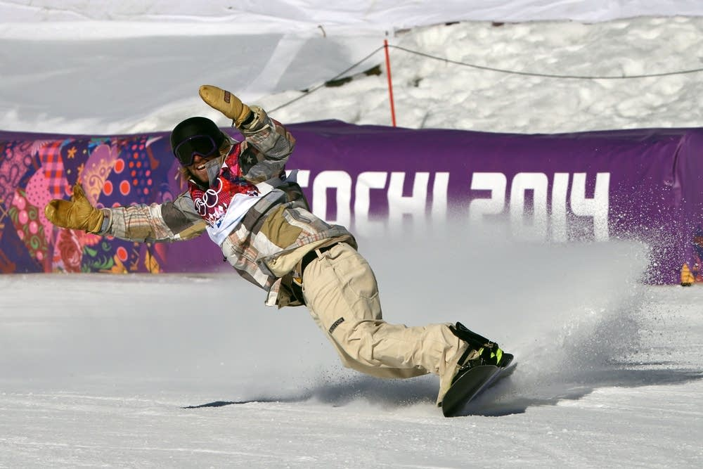 Sage Kotsenburg of USA snowboarding