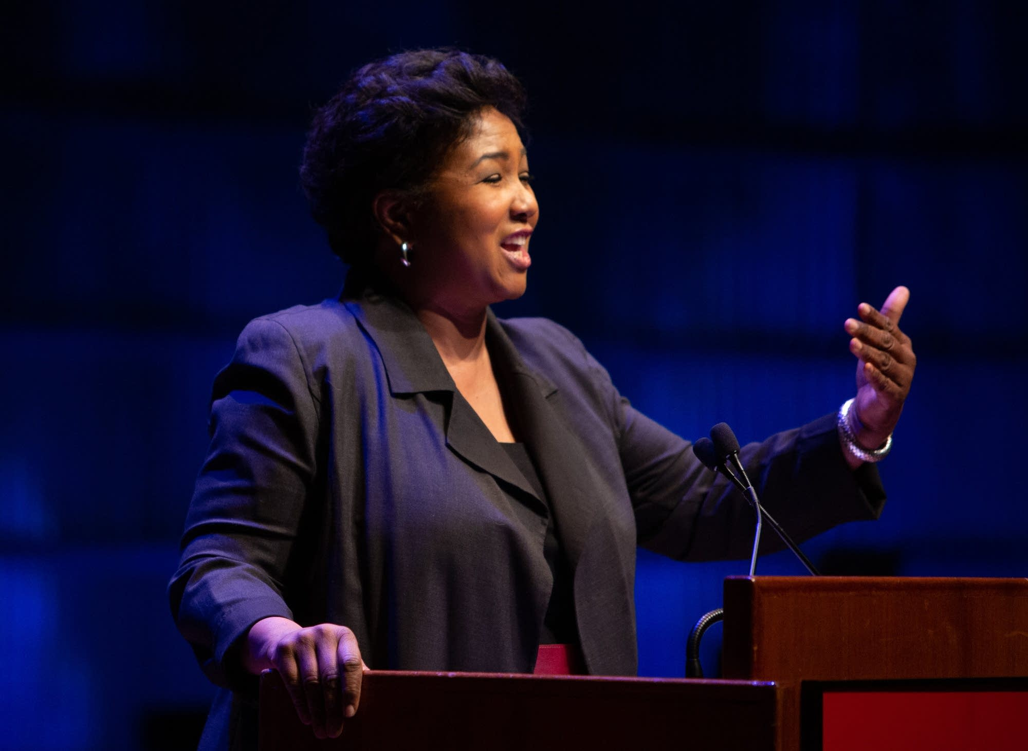 Dr. Mae Jemison speaks at the Martin Luther King Jr. Day Celebration.