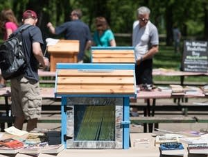Little Free Library Festival in Minnehaha Park