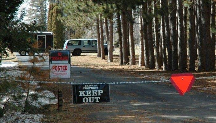 Byron Smith's driveway