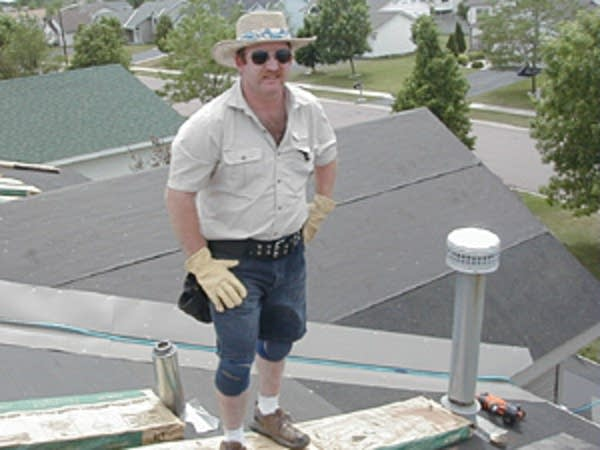 Roofer Steve Hackbarth